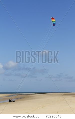 Kitebuggy on the beach