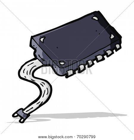 cartoon computer chip