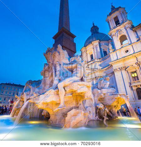 Navona square in Rome, Italy.