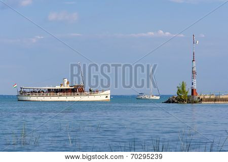 Ship On Lake Balaton