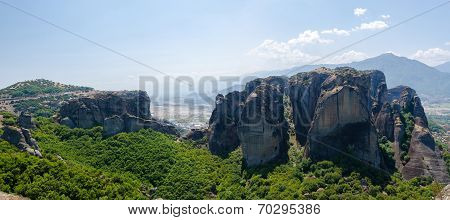 Greece, Meteora, The View From The Plateau