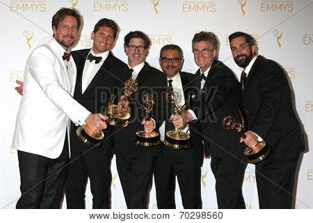 LOS ANGELES - AUG 16:  Outstanding Unstructured Reality Program - Deadliest Catch at the 2014 Creative Emmy Awards - Press Room at Nokia Theater on August 16, 2014 in Los Angeles, CA