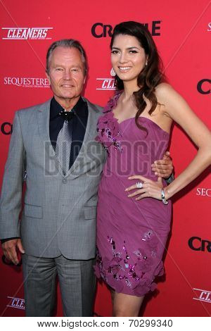 LOS ANGELES - AUG 14:  John Savage, Blanca Blanco at the Crackle Presents the Premieres of