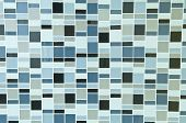 stock photo of olive shaped  - Close Up Of Design Tile Bathroom Wall - JPG