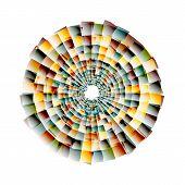 picture of nano  - Vector nano texture color web abstract line circle - JPG