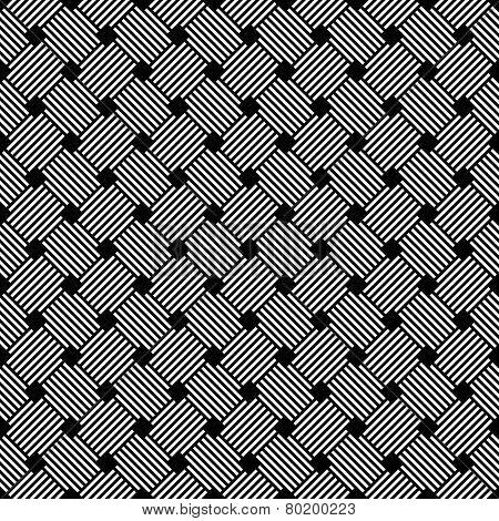 Seamless geometric latticed checked texture. Vector art.
