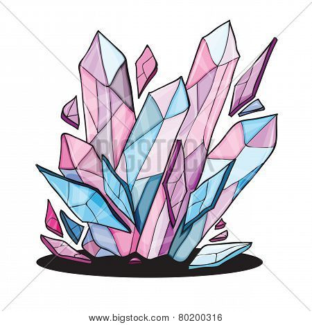 beautiful crystal stones for design
