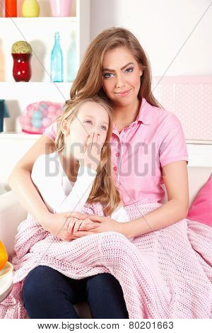 Mother With tired child