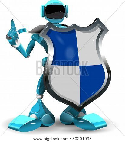 Robot With A Shield