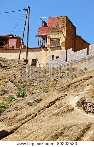 House On The Hill In Atlas Mountains, Morocco