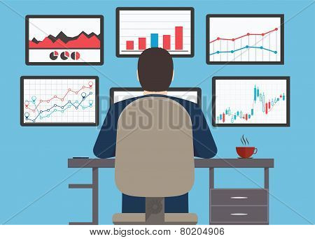 Workstation, Web Analytics Information And Development Website Statistic.