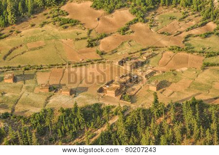 Aerial View Of Nepalese Settlement