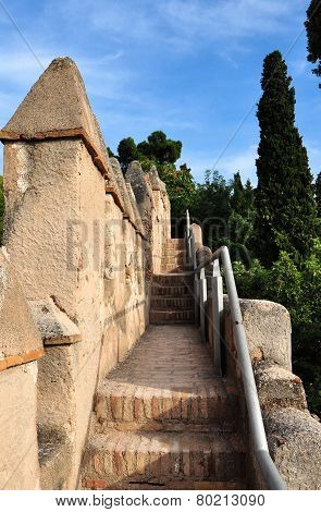 Alcazaba Walls, Malaga, Spain