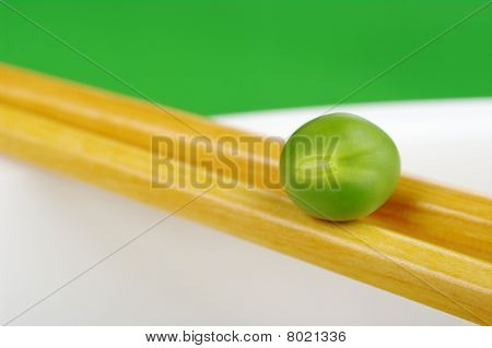 Pea on Chopstick