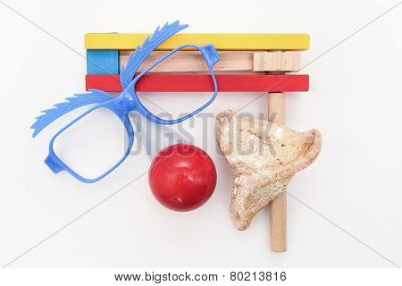 Traditional Jewish holiday - Purim arrangement