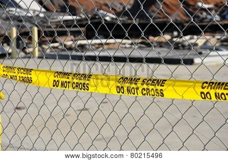 Yellow Crime Scene Do Not Cross Tape