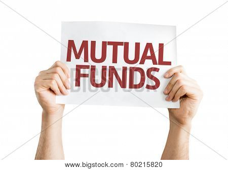 Mutual Funds card isolated on white background