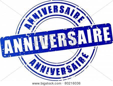Anniversary Blue Stamp