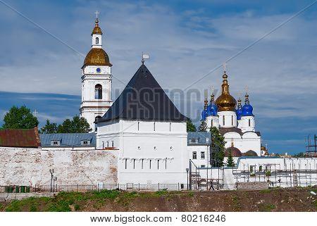 View onto Tobolsk Kremlin outside