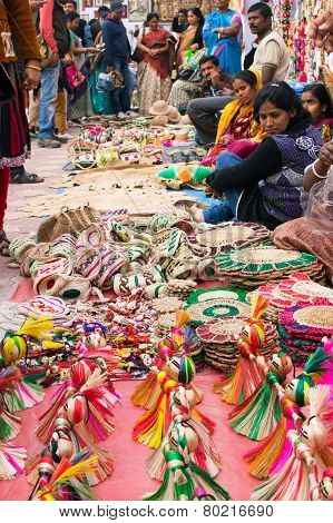 Handmade Jute Artwoks , Indian Handicrafts Fair At Kolkata