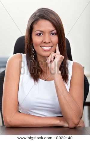 Business Woman At The Office