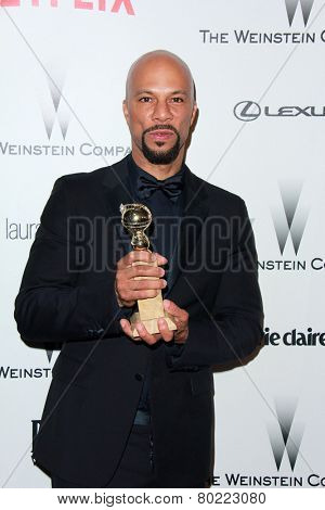 LOS ANGELES - JAN 11:  Common at the The Weinstein Company / Netflix Golden Globes After Party at a Beverly Hilton Adjacent on January 11, 2015 in Beverly Hills, CA