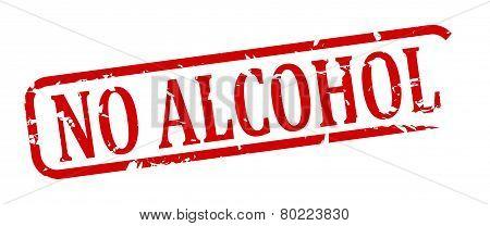 No Alcohol - Stamp
