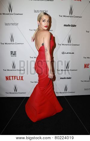 LOS ANGELES - JAN 11:  Rita Ora at the The Weinstein Company / Netflix Golden Globes After Party at a Beverly Hilton Adjacent on January 11, 2015 in Beverly Hills, CA