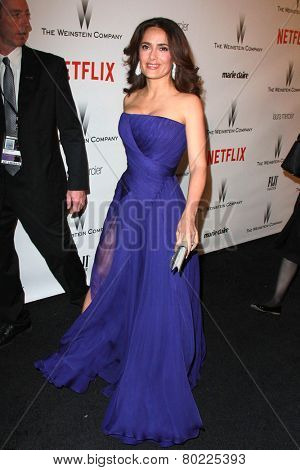 LOS ANGELES - JAN 11:  Salma Hayek at the The Weinstein Company / Netflix Golden Globes After Party at a Beverly Hilton Adjacent on January 11, 2015 in Beverly Hills, CA