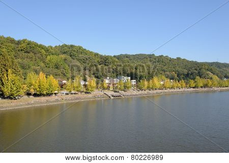 View Of Nakdong River In Andong City