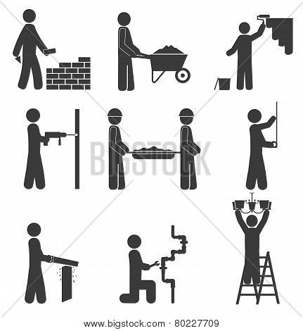Construction Icons, Renovation, Plumbing