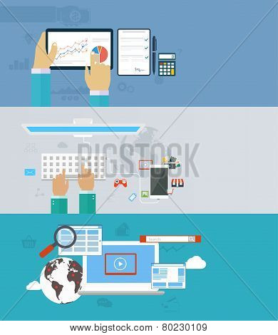 Interaction Hands Using Keyboard And Mobile Application. Internet Analyst, Work In Network, Interact