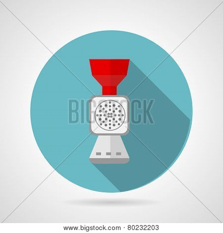 Flat vector icon for kitchen. Mincer