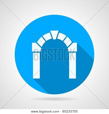 Flat vector icon for architecture