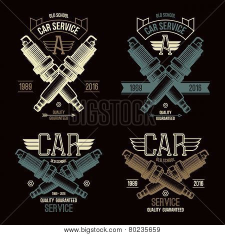 Car Service Spark-plug Emblems