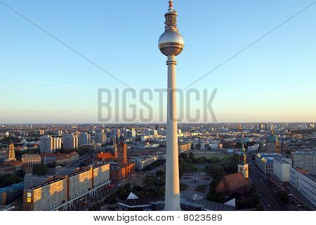 Berlin Skyline Sunset 2