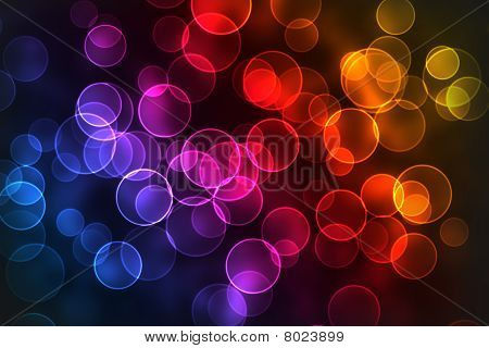 Multicolored Bokeh Background