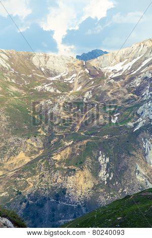 Mountain roads and biking trails