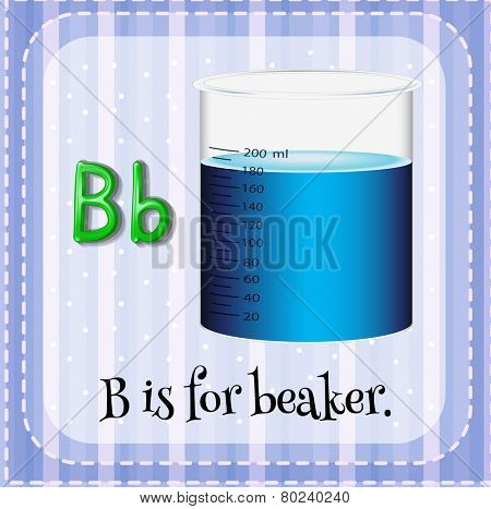 A letter B which stands for beaker