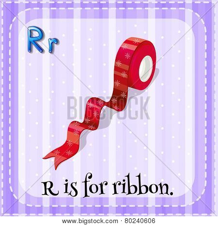 A letter R for ribbon