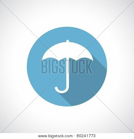 Umbrella icon with shadow.
