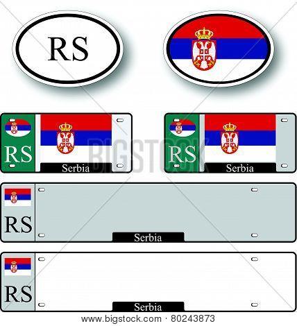 Serbia Auto Set