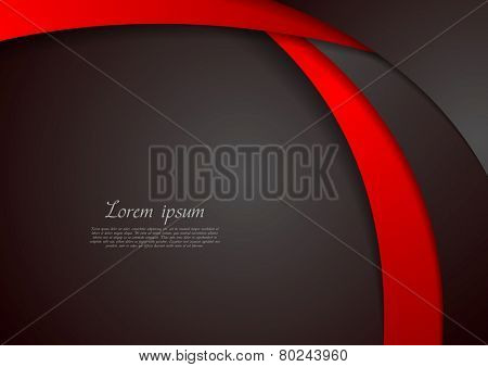 Abstract corporate wavy background. Vector design