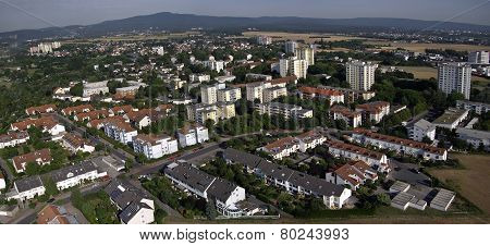 Aerial Photo Of A Small German Town