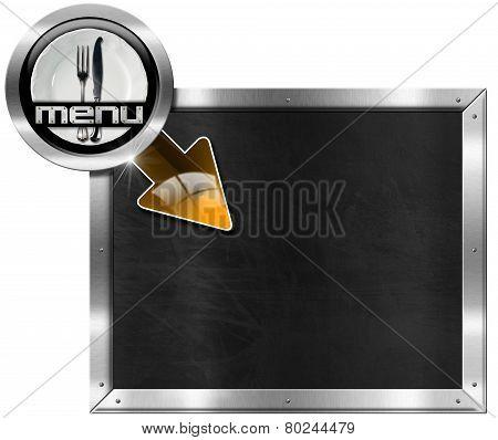 Metal Billboard For A Restaurant Menu
