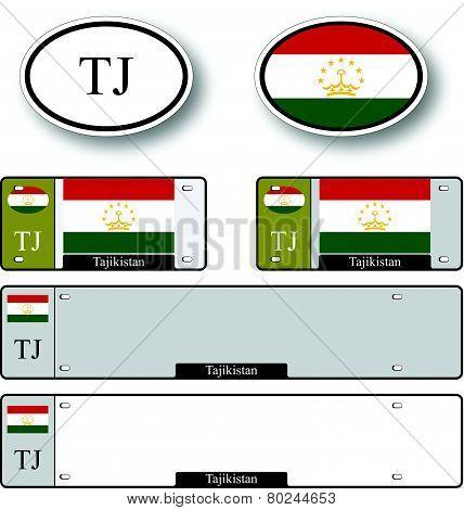 Tajikistan Auto Set