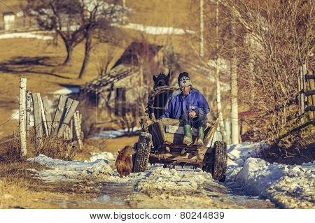 Farmers And Horse Cart