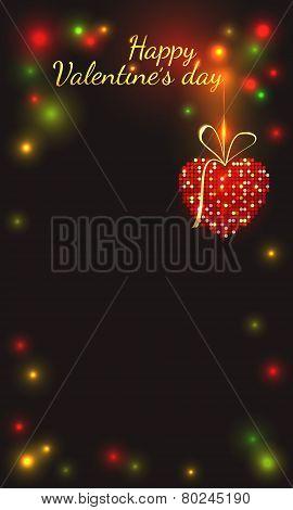 Festive vertical Valentine's Day card