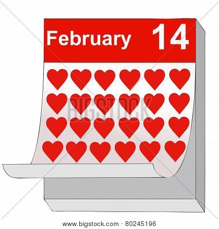 February 14, Valentine's Day, The Day Of Love