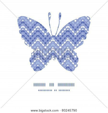 Vector purple drops chevron butterfly silhouette pattern frame